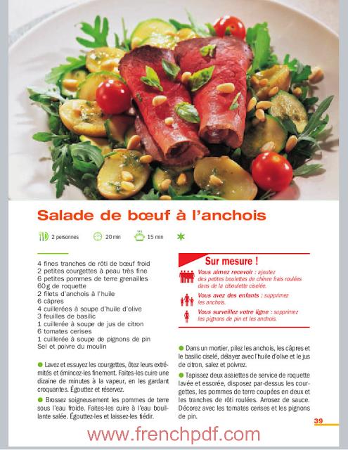 Salades: vinaigrette, roquette, fines herbes, tomates, fruits... 4
