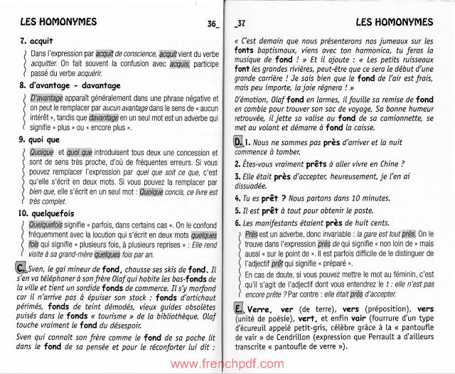 1000 questions de français pour vous tester livre en ligne 4