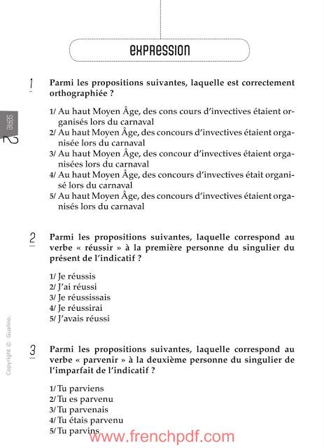 200 questions de compréhension et expression écrite en français 3