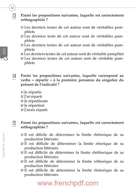 200 questions de compréhension et expression écrite en français 5