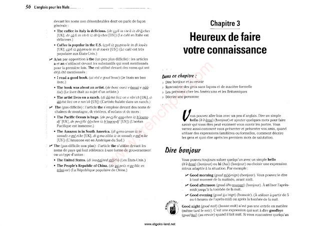 L'anglais pour les Nuls en pdf Gratuitemet 5