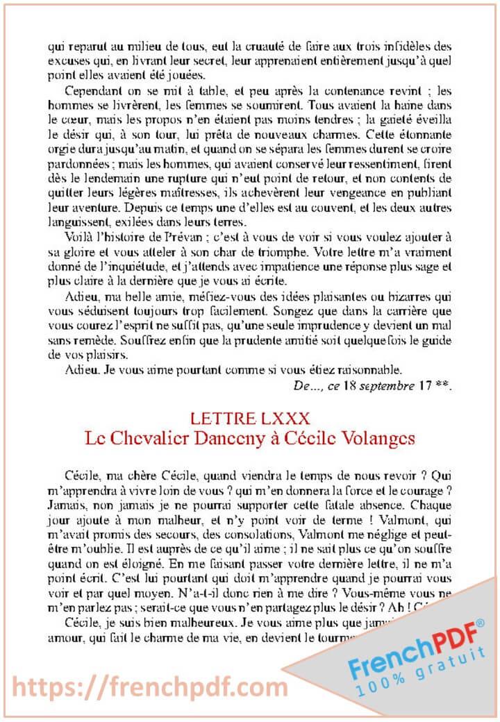Les Liaisons dangereuses PDF de Pierre Choderlos de Laclos 2