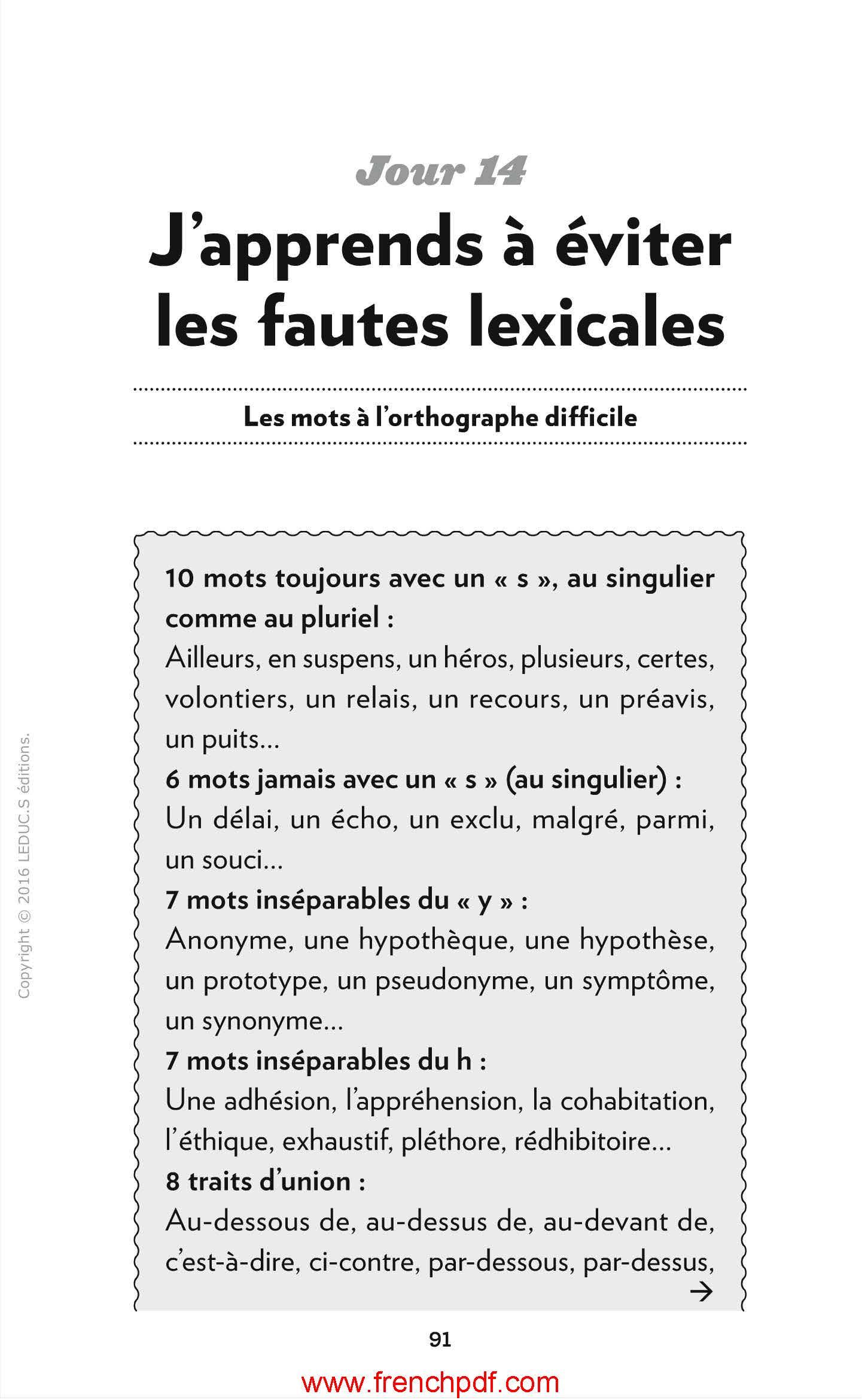 Ebook français grauit : L'anti-fautes de français pdf 4