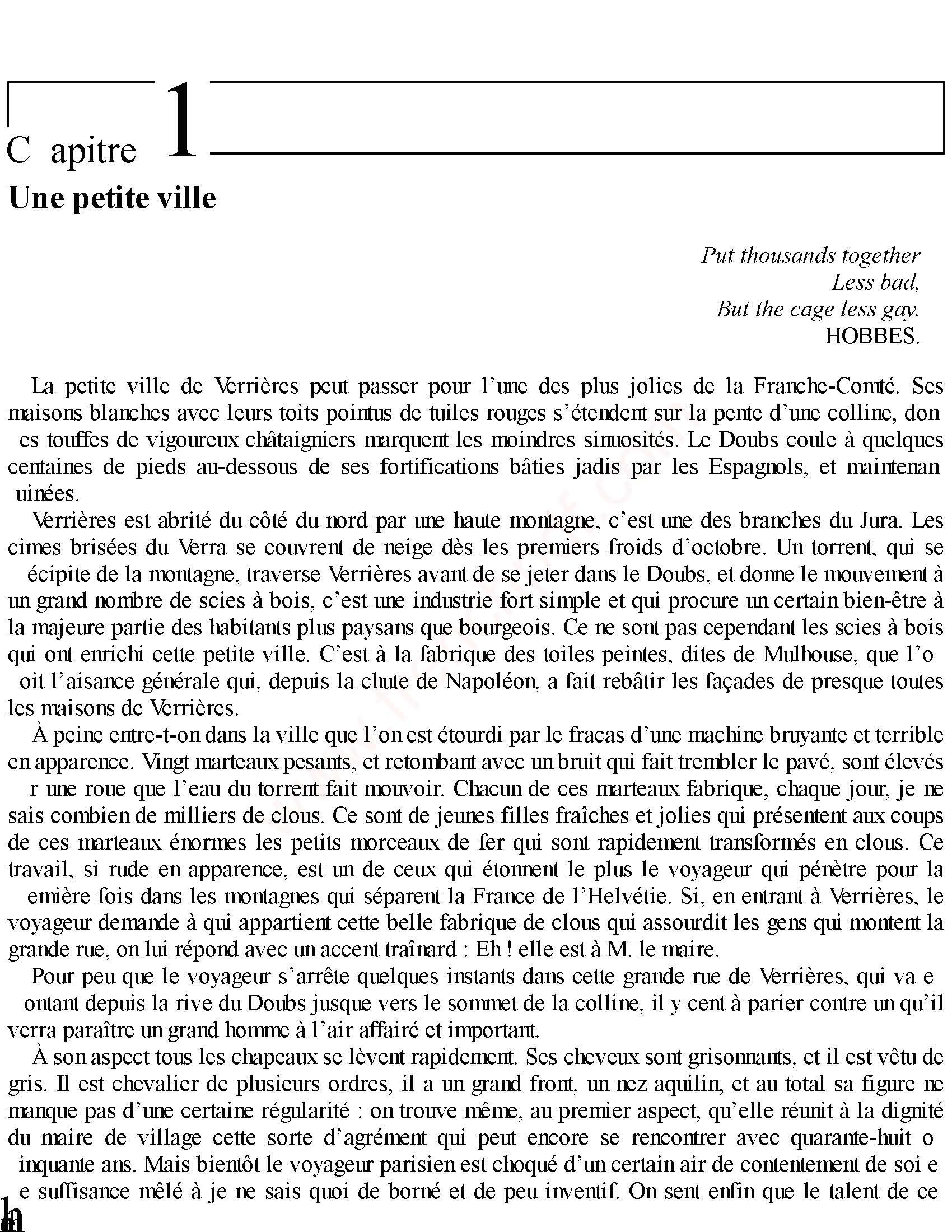 Le Rouge et le Noir PDF de Stendhal 1