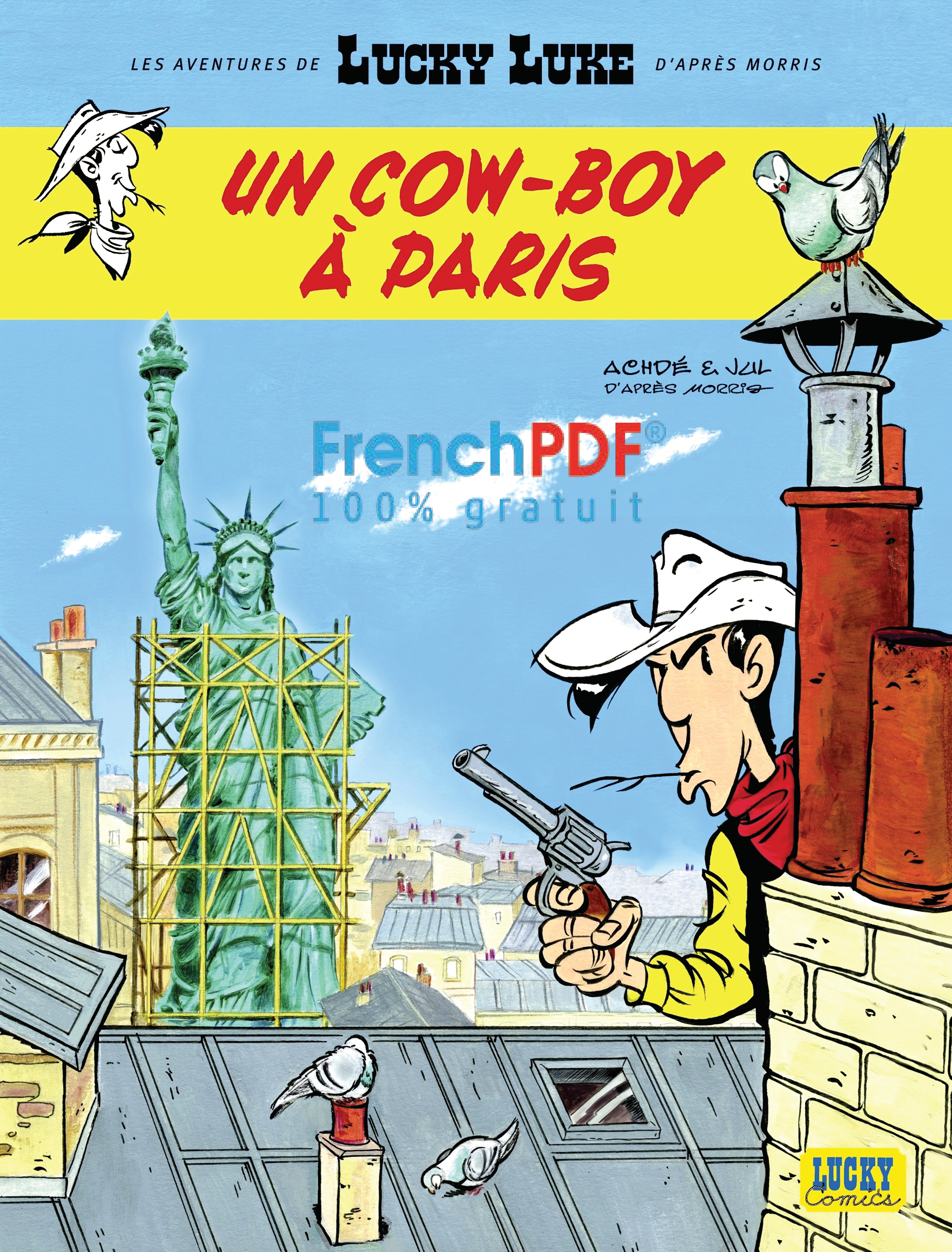 Lucky Luke - Tome 8 : Un Cow-boy à Paris PDF 1