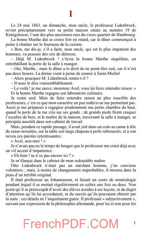 Voyage au centre de la Terre PDF de Jules Verne 2
