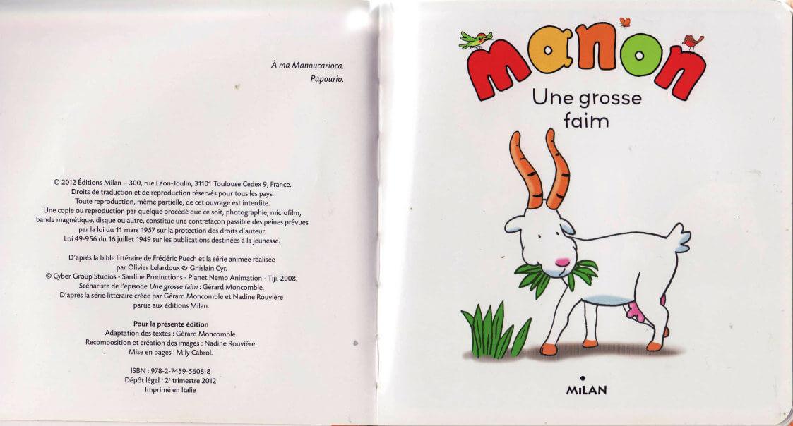 Manon, Une grosse faim Conte pour enfants 4