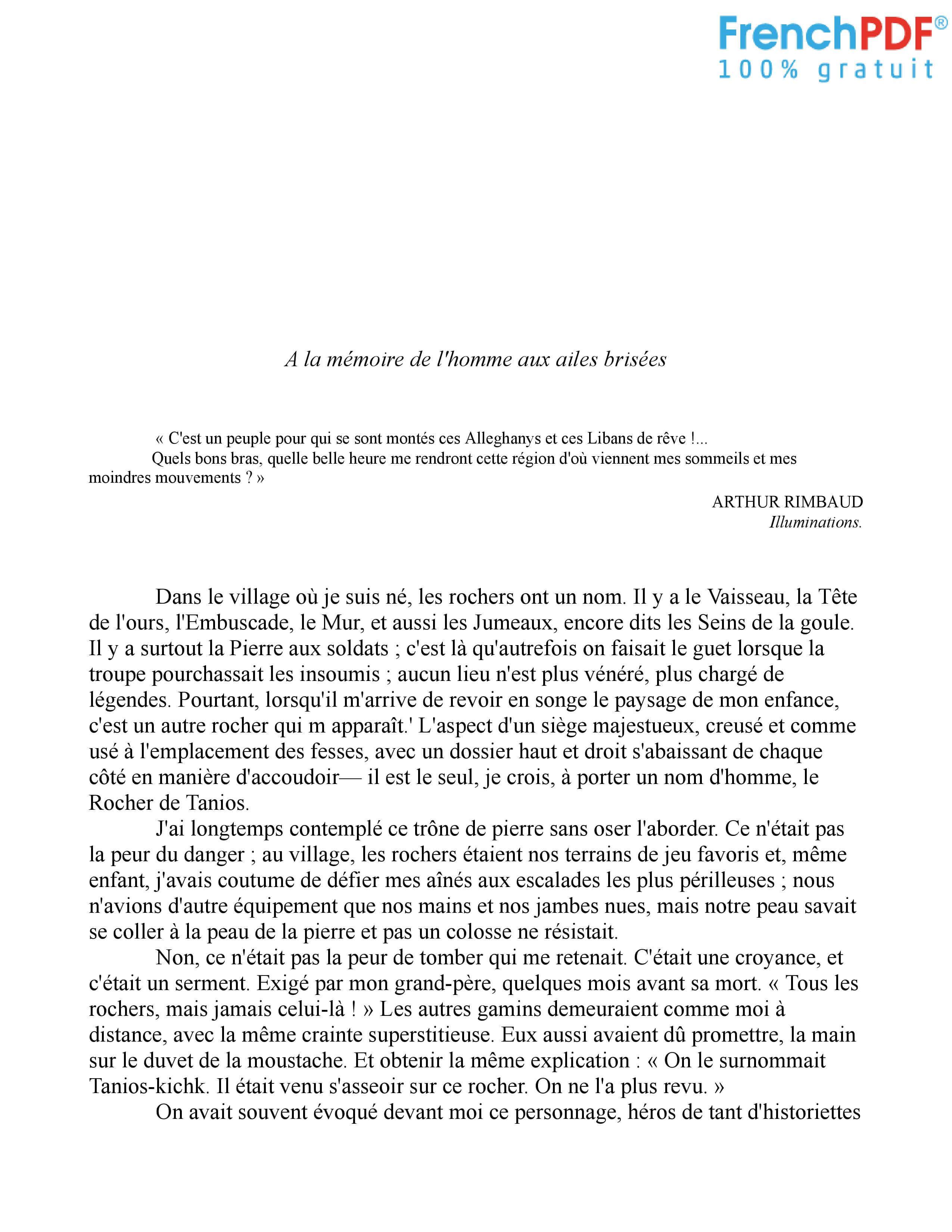 Le Rocher de Tanios PDF 1